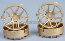 Tetsujin JASMINE  RC Car 1/10 Wheels GOLD Adjustable Offset 3-6-9mm -4 RIMS
