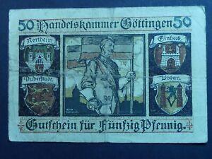 GERMAN NOTGELD, GOETTINGEN, 50 Pf, 1919