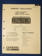 ONKYO TX-830 M TUNER AMP SERVICE MANUAL ORIGINAL FACTORY ISSUE THE REAL THING