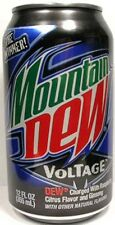 FULL Can Pepsi Mountain Dew Voltage Raspberry Gingseng Limited Edition USA 2009