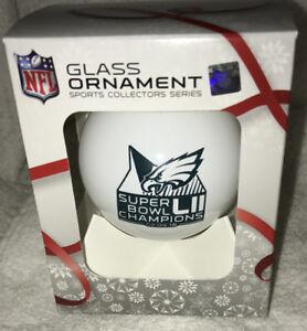 Philadelphia Eagles Super Bowl 52 LII CHAMPIONS CHAMPS ORNAMENT #1 GLASS BALL