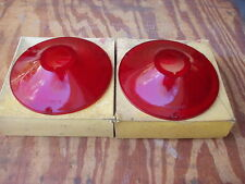 1961 Ford Fairlane 500 Galaxie stop & tail lamp lens pair Glo-Brite #804 NORS!