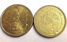"""MEXICO $100 Peso coin (1984-1992 type) Vintage Mexican 100 Pesos, """"Carranaza"""""""