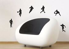 Rugby Players Set of six Silhouettes wall art decal stickers
