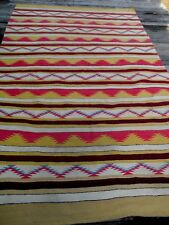 VINTAGE LARGE NATIVE AMERICAN INDIAN NAVAJO RUG 5 FEET X 8 FEET