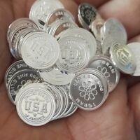 Lot of 30 - 1g .999 Fine Silver Round Bar Bullion /  mini coin   oz RE333