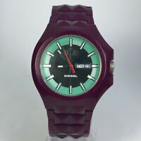 Diesel Mens DZ1190 Date Day Indicator Quartz Analog Wristwatch Purple Tone