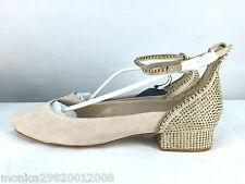 Zara Strass Ballerina Ballerinas Schuhe UK7 EUR40 US9