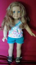 """18"""" American Girl  Nicki Doll 2007 Girl Of The Year In Tagged Outfit"""
