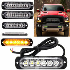10x 12/24V 6LED Yellow Strobe Flashing Light Emergency Hazard Truck Warning Lamp