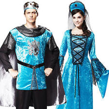 Royal Medieval Couple Adults Fancy Dress Renaissance Tudor Ladies Mens Costumes