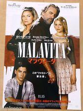 THE FAMILY Original Japan Chirashi Movie Mini Poster 2013 MALAVITA Robert De Nir