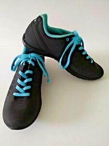 Louis Garneau Women's Opal Cycling Biking Shoes Blue Black Size 41 (US 7.5)