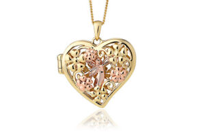 New Welsh Clogau 9ct Yellow & Rose Gold Fairy Open Heart Locket £250 off! *RARE*