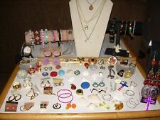Vintage Bracelets, Necklaces, Earrings, Brooches, Watch For Resale Or Repurpose