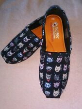 Bobs Sketchers Canvas Slip On Shoes Cats - Size 6.5