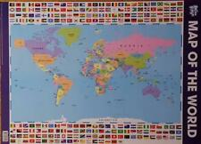 World Map Educational Poster - Maxi Size 49 X 69 Cm 27 X 19 Inches