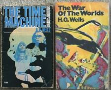 HG WELLS 2 VINTAGE PB ~ TIME MACHINES & WAR OF THE WORLDS ~ LOT 100