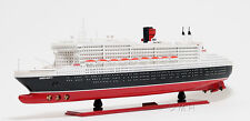 "RMS Queen Mary II Ocean Liner Wooden Model 40"" Cunard Cruise Ship New"