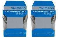 2x Shimano SIL-TEC PTFE Coated Road Brake Inner Cable Dura-Ace Teflon Y80098320