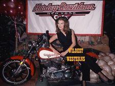 BROOKE SHIELDS candid PHOTO cute pic RARE Harley Davidson motorcycle
