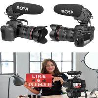 BOYA BY-BM3031 Shotgun Super-cardioid Condenser Broadcast Mic For DSLR  Camera