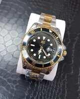 Orologio Da Polso Zcc Submarine Uomo Analogico Quarzo Data Oro Silver Nero lac