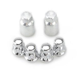 M12X1.5 Wheel Lock Lug Nuts 4 pcs Lock Nuts + Key for Hyundai KIA Acura