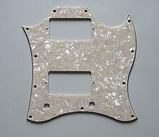 SG Standard Full Face Guitar Pickguard Scratch Plate Aged Pearl 3 Ply w/ Screws