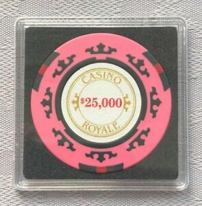 JAMES BOND 007 - CASINO ROYALE $25,000 POKER CHIP SQUARE CARD GUARD/PROTECTOR