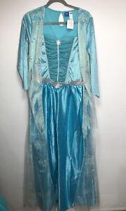 Princess Elsa Disney Frozen Ladies Fancy Dress Costume Size Medium 12-14