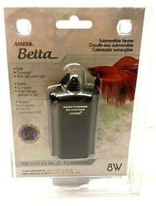 Marine Betta Submersible Heater, 8 Watts For 1/2 - 1 1/2 U.S. GAL. Aquariums New