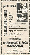 W8739 Bicarbonato di soda SOLVAY - Pubblicità del 1958 - Vintage advertising