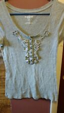 Old Navy Women's Small Petite Gray Knit Top