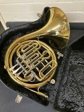 More details for danor french horn for service, with case.