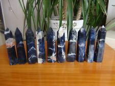 10 Pcs Natural Sodalite Blue Quartz Crystal Point Healing   670g