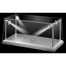 Display Case With LED Lighting X 4 Silver Base 1 18 Scale T9 18922