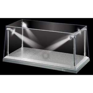 1:18 Display Case with LED Lights Silver Base for DIECAST Models - KC9922