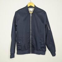 Five Four Men's Navy Blue Morrison Zip Up Bomber Jacket Size L