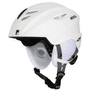 Nevica Ski & Snowboard Helmet Ladies Medium 54-58cm Adjustable White Matt