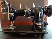PFAFF SEWING MACHINE 130 W/RARE EMBROIDERY UNIT