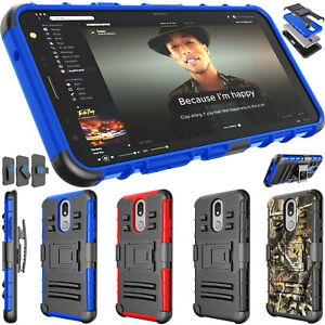 For LG Solo LTE/K40/K51 Phone Case Stand Holster Clip Shockproof Hybrid Hard