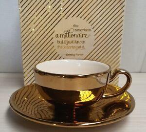 Robert Gordon High Tea & Cake Society Never Been A Millionaire Rose Gold Set MIB