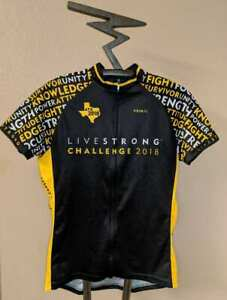 Rare Womens LIVESTRONG Challenge 2018 Full Zip Bicycle Jersey Sz. 2XL XXL Yellow