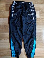 Adidas 90's Vintage Mens Track Pants Nylon Trousers Black Shiny Hype