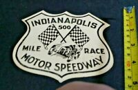 Vintage 1940's Indianapolis 500 Motor Speedway Mile Race Decal Nunley's Shell