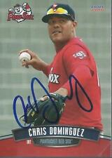 Chris Dominguez 2016 Pawtucket Red Sox Signed Card