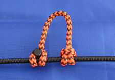 3 Pack Fl Orange & Black Speckled Archery Release Bow String Nock D Loop BCY #24