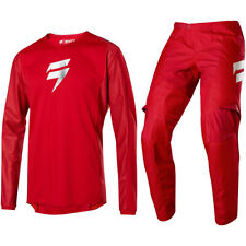 2020 SHIFT MX WHITE LABEL MOTOCROSS KIT PANTS JERSEY WHIT3 LABEL - BLOODLINE RED