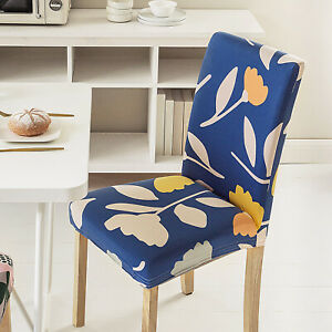 2/4 Dining Chair Covers Dust-proof Elastic Stretch Slipcovers Chairs Protector